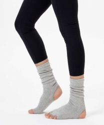 Gri Bilekli Yoga & Pilates Çorabı - Thumbnail