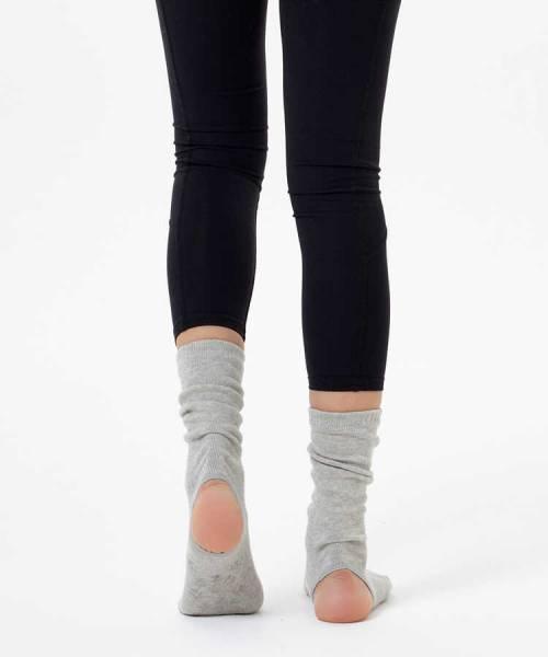 Gri Bilekli Yoga & Pilates Çorabı