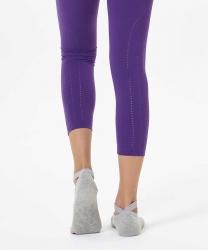 Gri Çapraz Kayışlı Yoga & Pilates Çorabı - Thumbnail