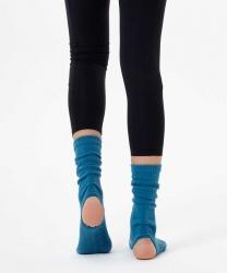 Mavi Bilekli Yoga & Pilates Çorabı - Thumbnail