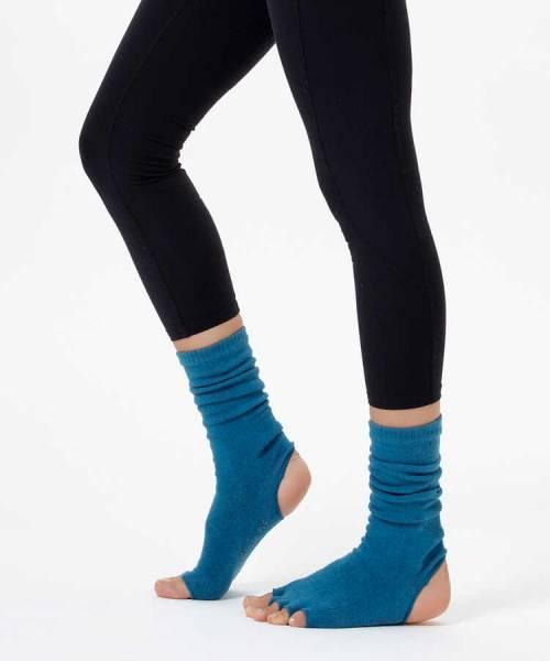 Mavi Bilekli Yoga & Pilates Çorabı