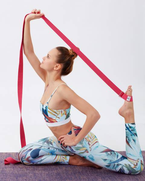 Mor Yoga Kemeri ( Kayışı )