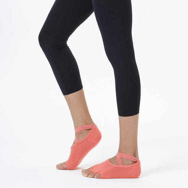 Nar Çiceği Çapraz Kayışlı Yoga & Pilates Çorabı