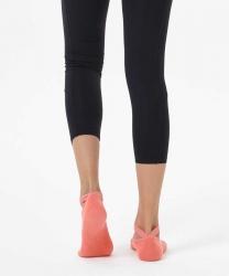 Nar Çiceği Çapraz Kayışlı Yoga & Pilates Çorabı - Thumbnail