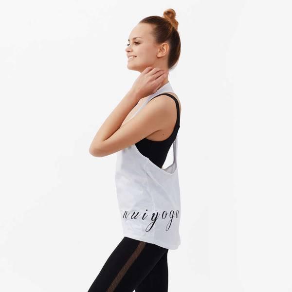 Nui Yoga Baskılı Atlet Beyaz