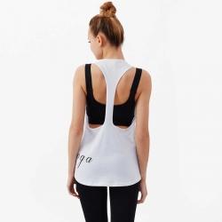 Nui Yoga Baskılı Atlet Beyaz - Thumbnail