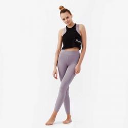 Nui Yoga Baskılı Crop Top Siyah - Thumbnail