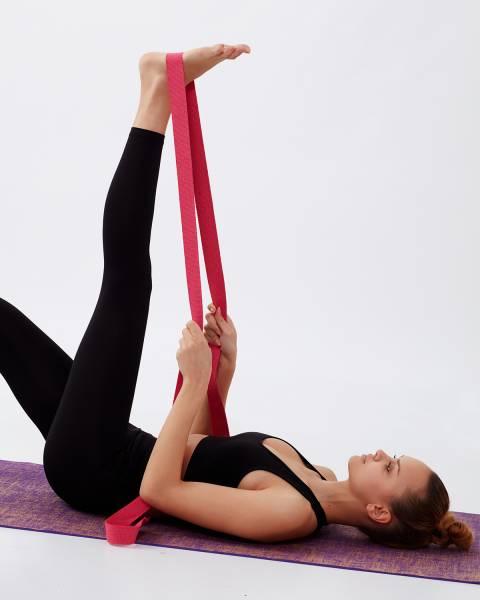 Pembe Yoga Kemeri ( Kayışı )