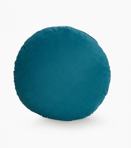 Petrol Mavisi Meditasyon Minderi 40 Cm Çap