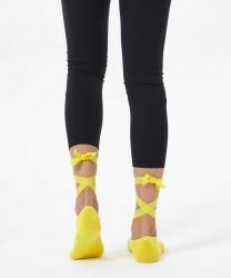Sarı Kayışlı Yoga & Pilates Çorabı - Thumbnail